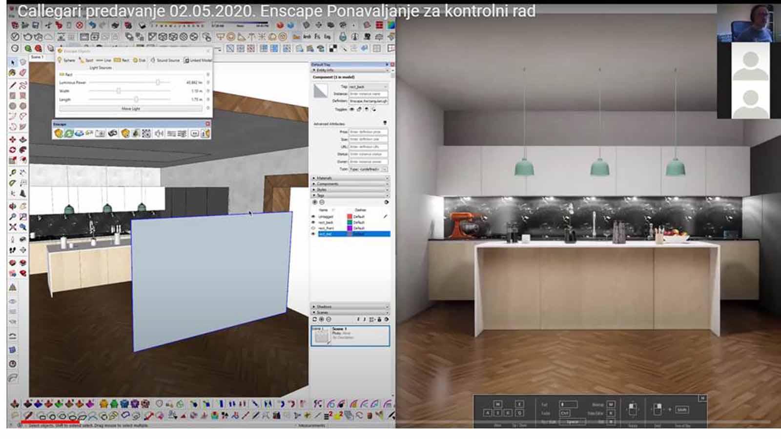 On-line nastava: 3D vizualizacije interijera u Enscape-u