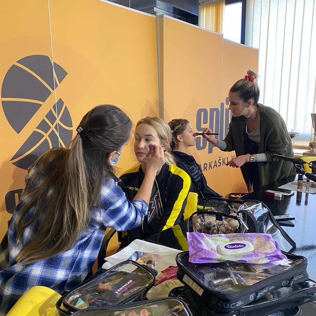 Naši VIZAŽISTI ponovno u akciji: makeup na pripremama za KRALJICU HRVATSKE  i na snimanju glazbenog spota povodom 75-og rođendana KK Split