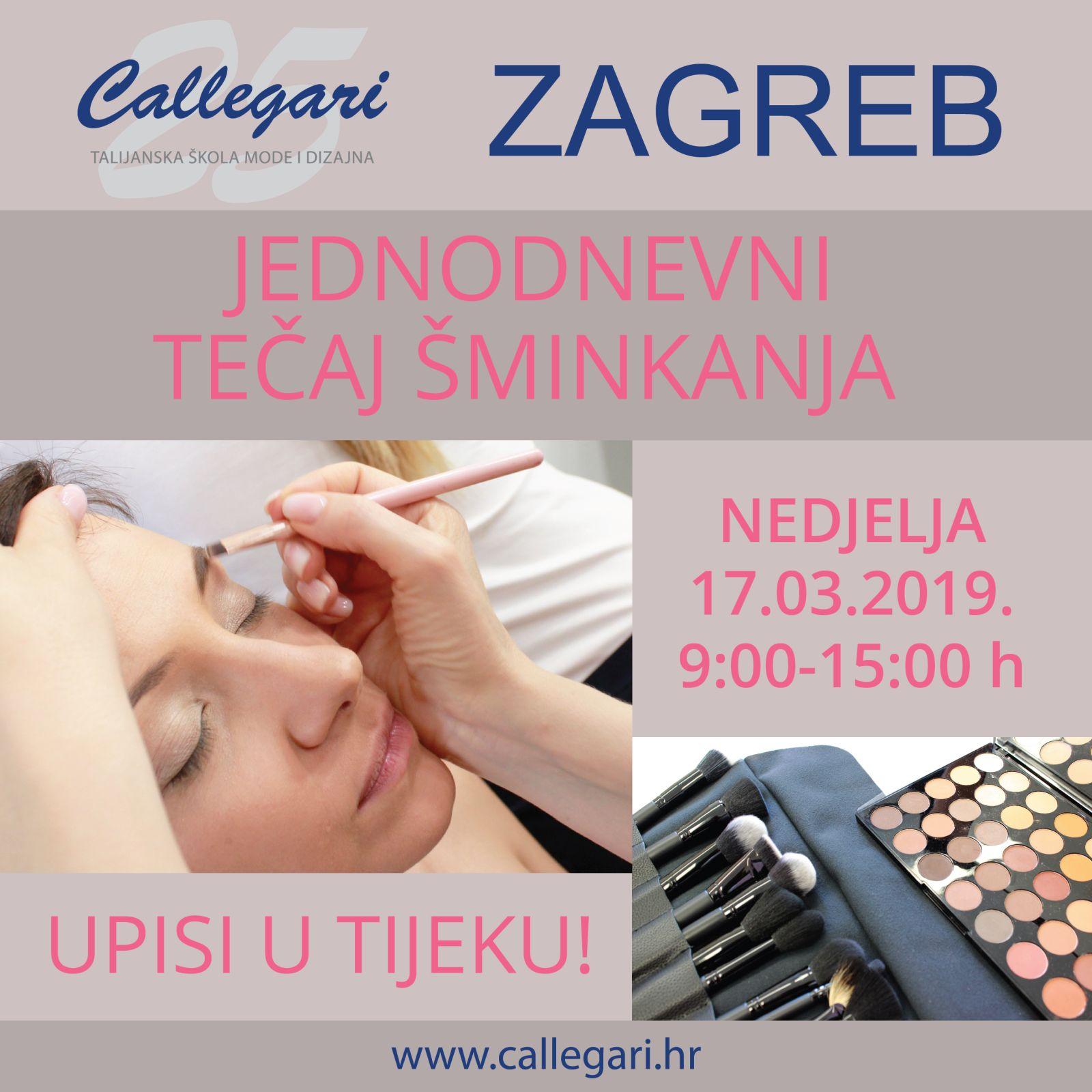 Jednodnevni tečaj šminkanja - Zagreb